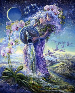 Aquarius Artwork by Josephine Wall
